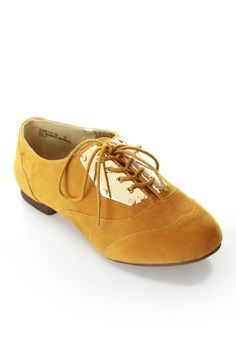 mustard + metal oxfords / Bamboo $16