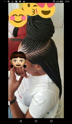 85 Box Braids Hairstyles for Black Women - Hairstyles Trends Box Braids Hairstyles, French Braid Hairstyles, Braided Hairstyles For Black Women, My Hairstyle, African Hairstyles, Cornrows Hair, Locs, Hairstyle Ideas, Half Cornrows