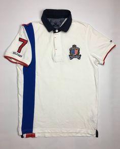 9138258051b4 1990s Vintage Tommy Hilfiger Crest Polo Shirt - 90 s Tommy Hilfiger Logo  Rugby Shirt - 90s