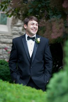 The groom's face while his bride walks down the aisle. Priceless! @myweddingdotcom