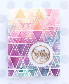From Kristina Werner. Emboss Resist & Multilayered Watercoloring with Distress Inks