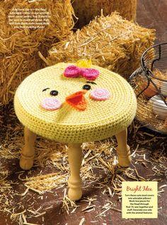 Farm Animal Stools Crochet Cover