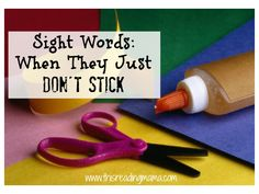 when sight words don't stick - a developmental approach | @thisreadingmom