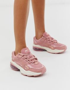 Shop Puma Cell Venom pink patent pop trainers at ASOS. Nike Air Force, Nike Air Max, Black And White Trainers, Green Trainers, Black White, Puma Sneakers, Casual Sneakers, Air Max Sneakers, Silver Block Heel Sandals