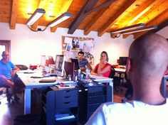 Marco briefing the team about last corporate news  More @ www.mocainteractive.com  #brief