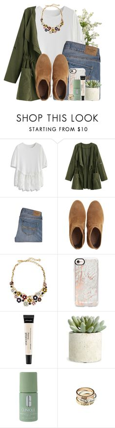 """""""Happy Groundhog Day🌿"""" by lindonhaley ❤ liked on Polyvore featuring Chicwish, Abercrombie & Fitch, Oscar de la Renta, Casetify, philosophy, Allstate Floral, Clinique and American Eagle Outfitters"""