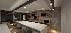 escritório Café de La Musique Conference Room, Table, Furniture, Home Decor, Music, Decoration Home, Room Decor, Tables, Home Furnishings