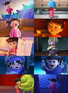 boo from monsters inc. is the cuuuutest lil thing. I love her!