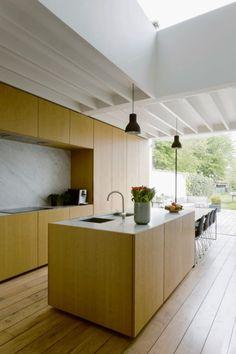 Pantone, Plywood Kitchen, Natural Interior, Contemporary Kitchen Design, Minimalist Home, Kitchen Living, Home Renovation, Kitchen Interior, Decoration