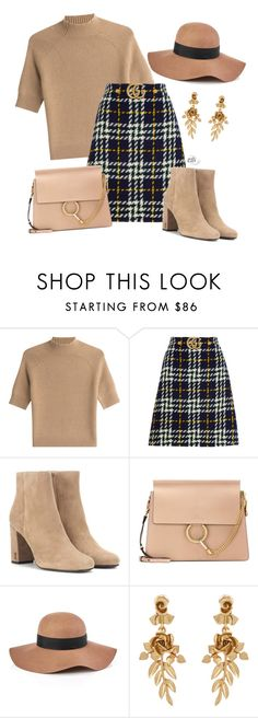"""Untitled #1068"" by elli-skouf ❤ liked on Polyvore featuring Theory, Gucci, Yves Saint Laurent, Chloé, Reiss and Oscar de la Renta"