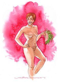 Projeto Outras Meninas - ilustração mulheres em aquarela