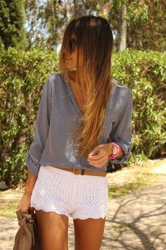 crochet shorts. I like.