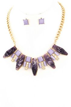 Raw Beauty Stone Necklace - Amethyst