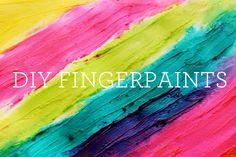 make your own fingerpaints