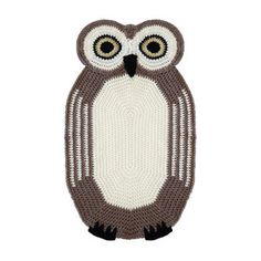 Seymour The Owl Rug now featured on Fab.
