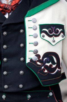 Details on a man's jacket from Øst-Telemark, Norway.