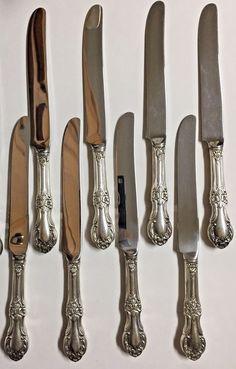 "S INTERNATIONAL STERLING 9 1//8/"" MODERN HOLLOW KNIFE ~ WEDDING BELLS ~ NO MONO"