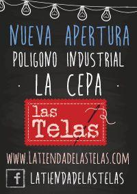 Abrimos nueva tienda de #telas en el Polígono Comercial La Cepa...Esperamos vuestras visitas