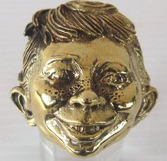 Bronze Alfred E. Neuman Comic Character Ring-Custom Size-Free Shipping #Handmade #StatementFamousFace