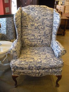 Toille wingback chair. There are two!