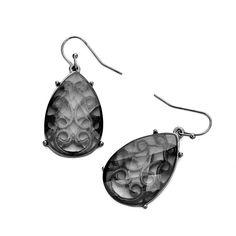 Joji Boutique - gunmetal filigree teardrop earrings with smoky stone overlay, (http://www.jojiboutique.com/products/gunmetal-filigree-teardrop-earrings-with-smoky-stone-overlay.html)