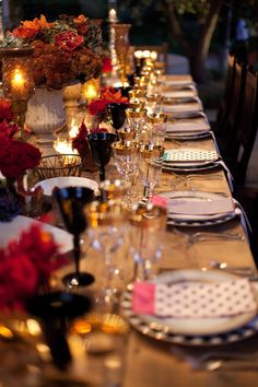 Dramatic Tablescape ~ Event Planning by rosemaryevents.com, Photography by juliemikos.com