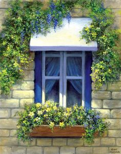 Paint Your Own Masterpiece on Canvas-European Window by craftitinc