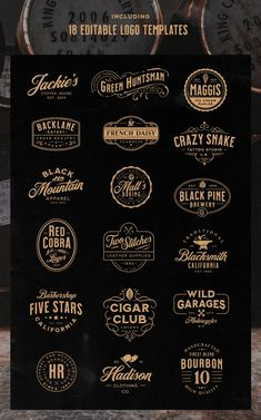Milkstore Font Collection contains a set of 5 textured handcrafted fonts. The fonts are inspired by vintage brick wall murals and they work perfectly for logo, packaging or title design with a hand crafted vibe. Rotulação Vintage, Vintage Fonts, Graphics Vintage, Vintage Typography, Vector Graphics, 2 Logo, Logo Branding, Font Logo, Badge Logo