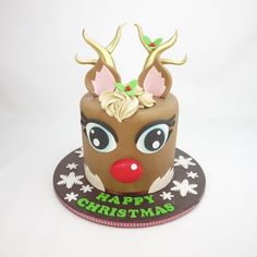 How To Make A 3D Chocolate Rudolph Cake   Cake Craft World News