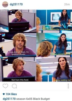 Funny scene from season 6 ncis los angeles deeks and kensi... eric olsen and daniela ruah