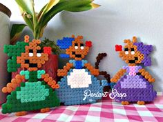 "Décoration D.i.s.n.e.y ""Lot de 3 souris de Cendrillon"" en perles Hama : Perles par perlart-shop"