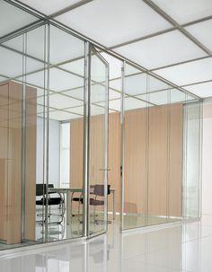 Pareti divisorie in vetro doppio per l'ufficio moderno