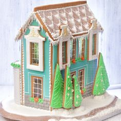 40 Ideas for holiday treats christmas gingerbread houses Gingerbread House Designs, Gingerbread Village, Christmas Gingerbread House, Christmas Treats, Christmas Baking, Holiday Treats, Gingerbread Cookies, Christmas Cookies, Christmas Time