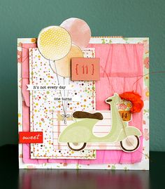 It's Not Every Day One Turns 11 - by Leah Farquharson using the Dear Lizzy Neapolitan collection from American Crafts.