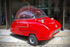 Peel of England reintroduces world's smallest car. Based on a 1962 design, it will come in both petrol & electric models.