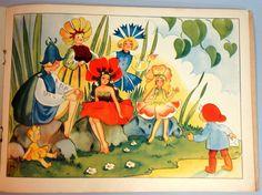 ''Santa's Party'', illus. by Justina, 1950 | eBay