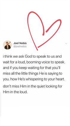 He is always speaking we just need to listen better. It takes time to figure it out tho Bible Verses Quotes, Jesus Quotes, Faith Quotes, Me Quotes, Scriptures, Words Quotes, Quotes About God, Quotes To Live By, Cool Words