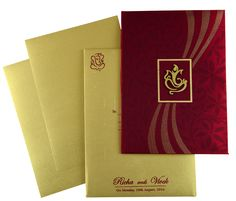 Front of Card and Envelope with Inserts Scroll Wedding Invitations, Wedding Invitation Suite, Invite, Wedding Gift Baskets, Wedding Gifts, Wedding Stuff, Hindu Wedding Cards, Creative Crafts, Order Prints
