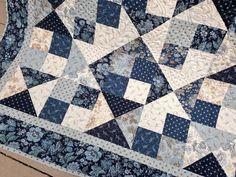 Throw Quilt Snowbird HANDMADE Patchwork Quilt by QuiltPetaler