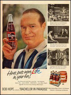 Bob Hope, Hires Root Beer, 1961