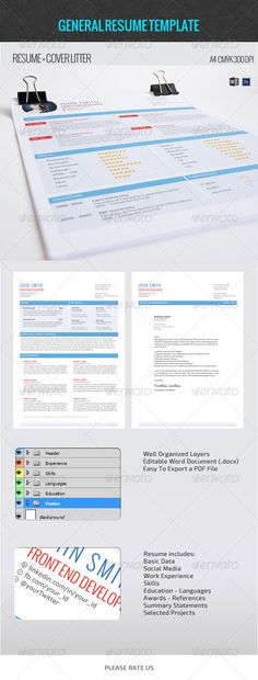 Fancy Resume Creative resume templates, Letter fonts and Font logo - general resume template