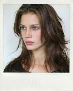 LE FASHION MODEL CRUSH MARINE VACTH POLAROID MODELING PHOTOS PICS MARILYN NY HAIR DOWN NATURAL BEAUTY FRECKLES LONG HAIR WAVY MESSY CLASSIC ...