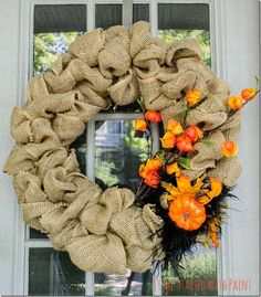 How To Make A Burlap Wreath for Fall