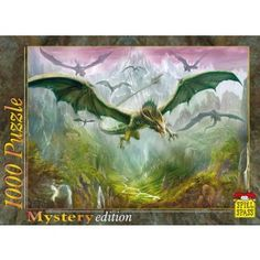A flock of ferocious dragons soar high over a the lush green landscape of a mythical valley hidden from view by sky scraping mountain peaks and protected by the most ferocious, winged beasts in the skies! Spiel Spass puzzles are high quality German-made jigsaw puzzles with a wide variety of themes and beautiful imagery - from fantasy to nature - available in 500 and 1,000 piece sizes. Whether you seek a challenge or enjoy the relaxation of piecing together stunning pictures, Spiel Spass has…