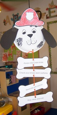 Greatest Resource Preschool - Fire Safety Dog - I think this idea came from the Mailbox Magazine