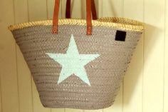 """Ibiza Tasche mit Stern """"Hippie Beach"""" von Sabine Lambrecht auf DaWanda.com"""