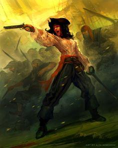Pirat. Piratlajv. Personlighet, beslutsamhet.