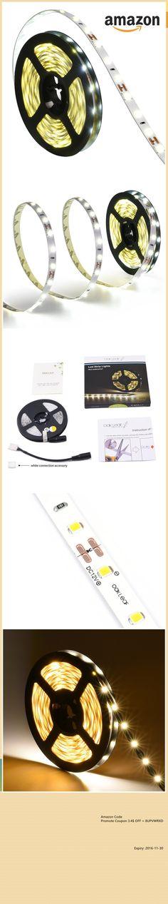 $4.59 Flexible LED Strip Lights,16.4ft/5m LED Light Strips,Oak Leaf SMD2835 4W 3000k Warm White Light Strip %% You Deserve One, Best Deals @Amazon !  3.4$ off Promotion Code : 8UPVWRXD