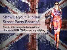 To celebrate the release of our flag tights and of course the jubilee, Tights Please are offering you the chance to WIN £100 hosiery bag.  So what do you have to do? We want to see your Street party boards to show us how you will be celebrating the Jubilee this summer.  Make sure you re–pin this on your Street Party Board to be in with a chance to win.  Good Luck to everyone and remember,     Keep Clam and Wear Tights xx