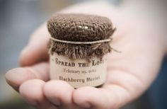 Love this idea for favors, maybe apple butter instead. This also has some other great decorating ideas that I love.